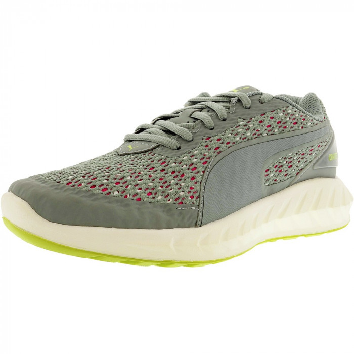 Puma barbati Ignite Ultimate Layered Quarry/Pink Glow Ankle-High Running Shoe foto mare