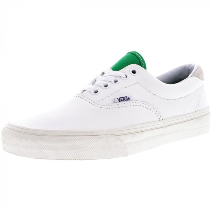 Vans Era 59 Vintage Sport True White / Kelly Green Ankle-High Leather Skateboarding Shoe