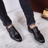 Pantofi barbati Piele Centurion negri eleganti