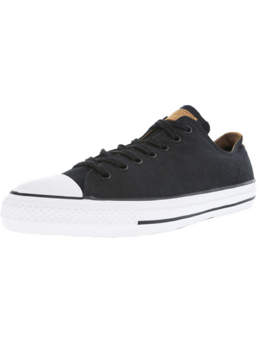 Converse Chuck Taylor All Star Pro Ox Black / Rubber Ankle-High Leather Fashion Sneaker foto mare