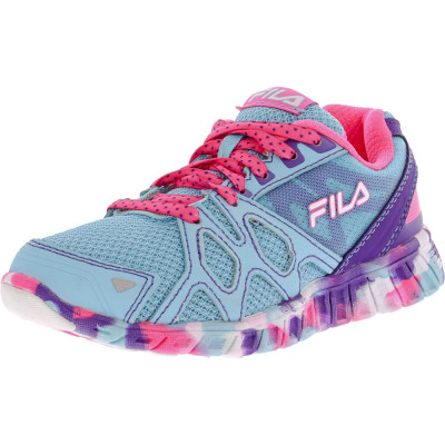 Fila Shadow Sprinter Bluefish / Electric Purple Knockout Pink Ankle-High Fashion Sneaker foto