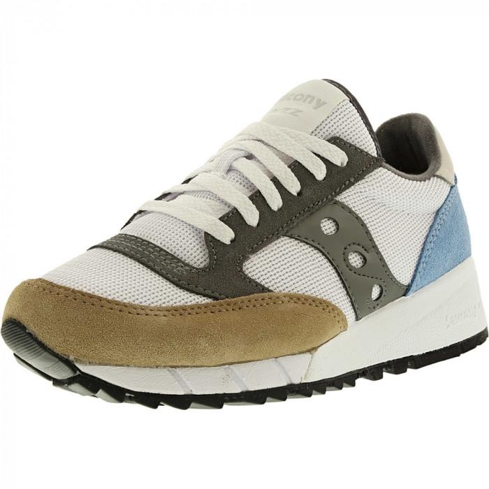 Saucony barbati Jazz 91 White/Tan/Blue Ankle-High Nylon Running Shoe foto mare