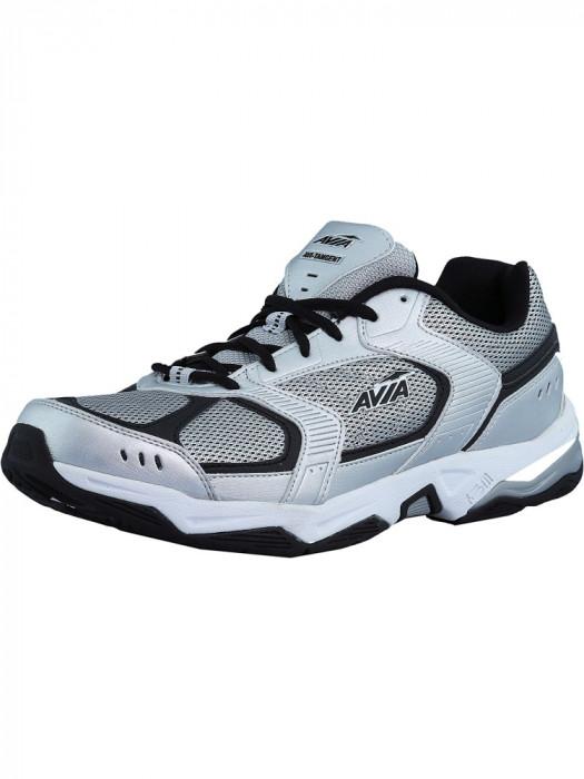 Avia barbati Avi-Tangent Chrome Silver / Black Ankle-High Running Shoe