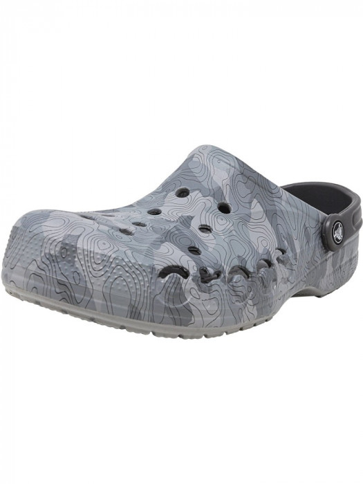 Crocs Baya Graphic Clog Smoke Ankle-High Clogs