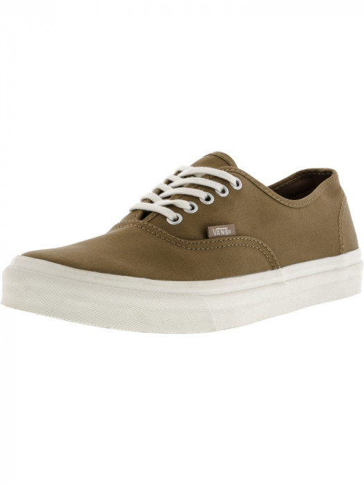 Vans Authentic Slim Brushed Twill Caribou / Blanc De Ankle-High Fashion Sneaker