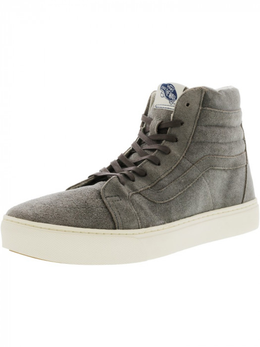 Vans barbati Sk8-Hi Cup Ca Waxy Water Resistant Suede Smoke / Turtledove High-Top Skateboarding Shoe