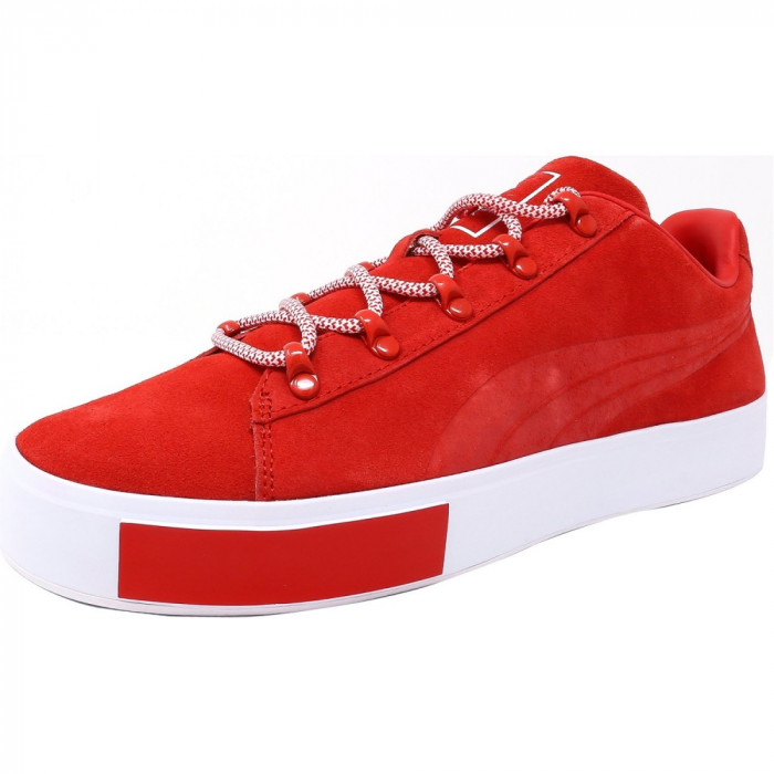Puma barbati X Dp Court Platform S High Risk Red Ankle-High Fashion Sneaker foto mare