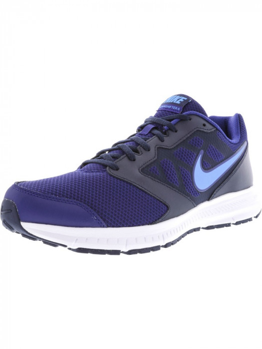 Nike barbati Downshifter 6 Deep Royal Blue / Glow Ankle-High Mesh Tennis Shoe foto mare