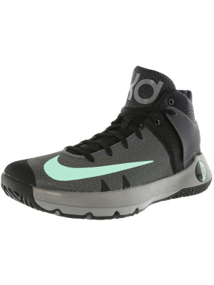 Nike barbati Kd Trey 5 Iv Black / Green Glow-Dark Grey High-Top Basketball Shoe foto