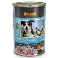 BELCANDO Junior - carne de pasăre cu ouă- tin 400g foto mare
