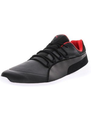 Puma barbati Ferrari Evo Cat Black / White Ankle-High Fashion Sneaker foto