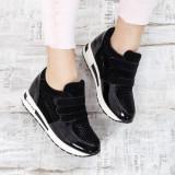Sneakers dama Clasina negri cu platforma