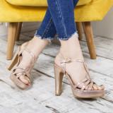 Sandale dama Regeco aurii elegante