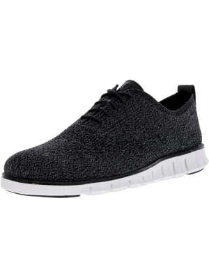 Cole Haan barbati Zerogrand Stitchlite Oxford Multi / Black Magnet White Ankle-High Fabric Shoe foto