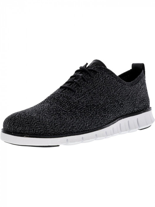Cole Haan barbati Zerogrand Stitchlite Oxford Multi / Black Magnet White Ankle-High Fabric Shoe foto mare
