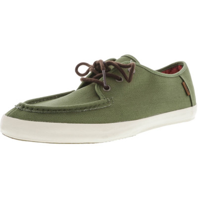 Vans barbati Washboard Tudor Loden Green Ankle-High Canvas Skateboarding Shoe foto
