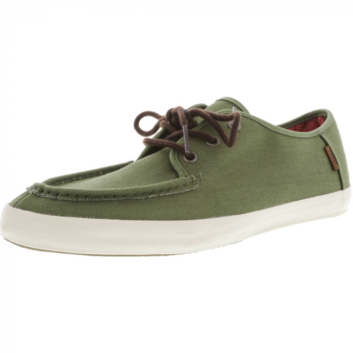 Vans barbati Washboard Tudor Loden Green Ankle-High Canvas Skateboarding Shoe foto mare