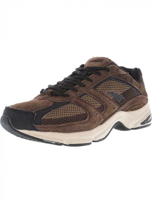 Avia barbati Avi-Volante Country Walnut / Chocolate Chip Black Stone Taupe Ankle-High Suede Walking Shoe foto mare