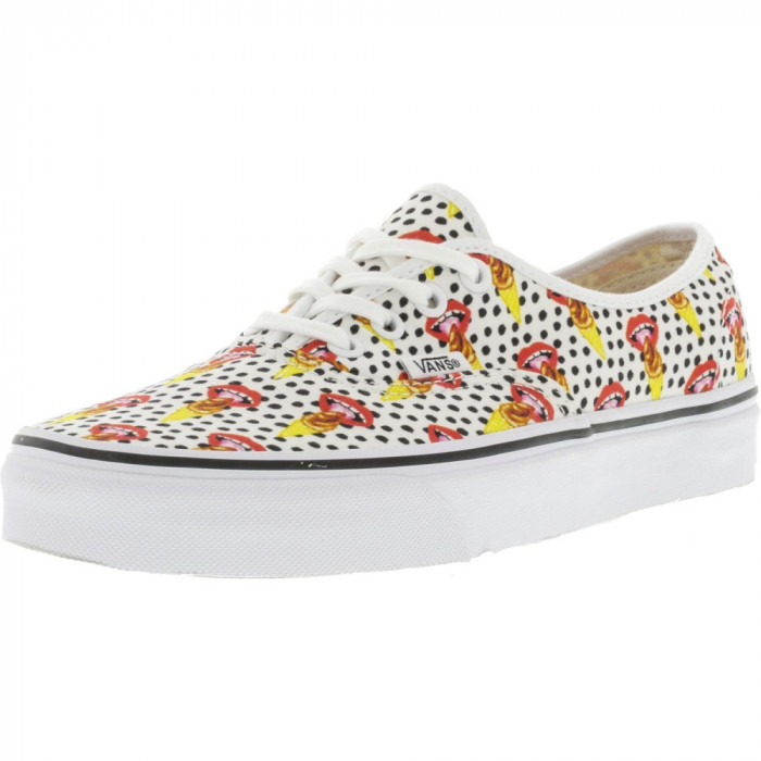 Vans Authentic Kendra Dandy I Scream / True White Ankle-High Canvas Skateboarding Shoe