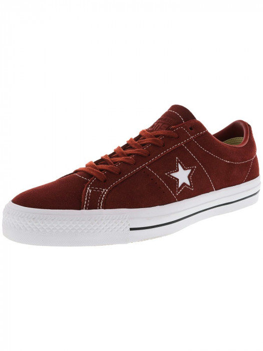 Converse All Star Pro Ox Terra Red / Low Top Suede Skateboarding Shoe foto mare