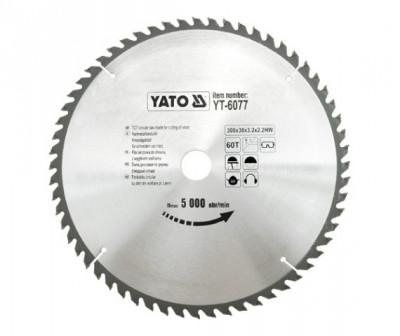 Disc fierastrau wolfram pentru lemn 300 mm x 60T YATO foto