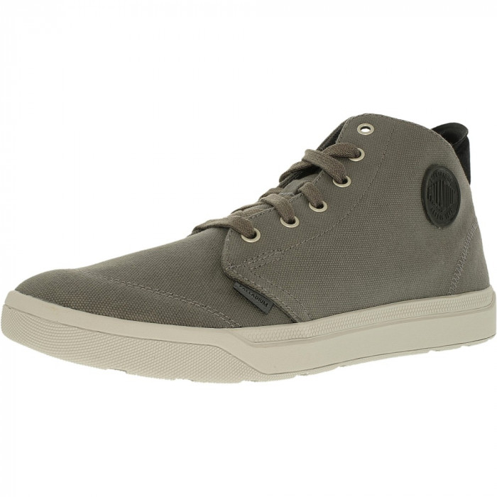 Palladium barbati Desrue Mid Castlerock/Black/Vapor Ankle-High Fashion Sneaker foto mare