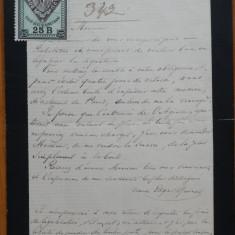 Scrisoare olografa Edgar Quinet , referire la Callimaki Catargi