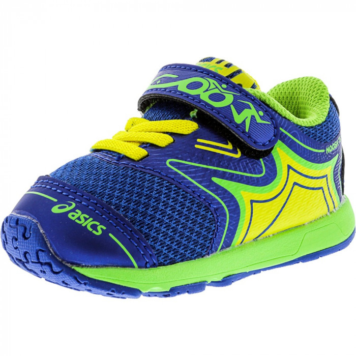 Asics Boys Noosa Ts Imperial / Green Gecko Safety Yellow Low Top Tennis Shoe foto mare