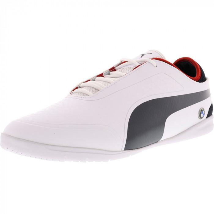 Puma barbati Bmw Motorsports Changer 2 White / Team Blue High Risk Red Ankle-High Fashion Sneaker foto mare