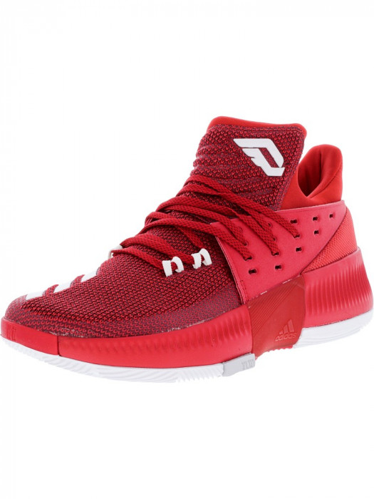 Adidas barbati Dame 3 Power Red / Footwear White Grey Ankle-High Basketball Shoe