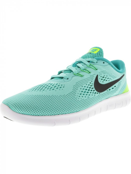 Nike Boys Free Rn Hyper Turquoise / Black-Clear Jade Low Top Running Shoe foto mare