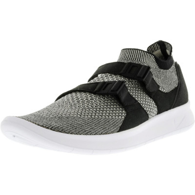 Nike barbati Air Sockracer Flyknit Black / Pale Grey-Black-White Ankle-High Running Shoe foto