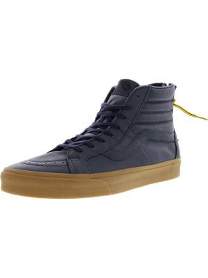 Vans barbati Sk8-Hi Reissue Zip Hiking Navy / Gum High-Top Leather Skateboarding Shoe foto