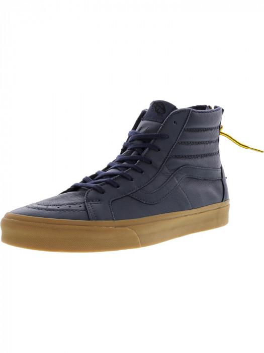 Vans barbati Sk8-Hi Reissue Zip Hiking Navy / Gum High-Top Leather Skateboarding Shoe