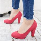 Pantofi Yolanda roz cu toc