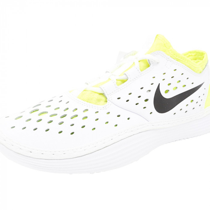 Nike barbati Solarsoft Costa Low White / Black-Volt Ankle-High Running Shoe