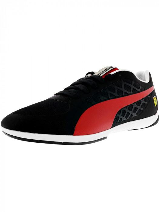 Puma barbati Ferrari Val-Oro Black / Rosso Corsa Fashion Sneaker foto mare