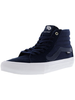 Vans barbati Sk8-Hi Pro Navy / White Ankle-High Canvas Skateboarding Shoe foto