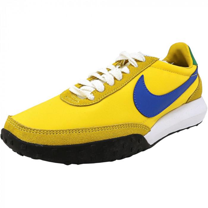 Nike barbati Roshe Waffle Racer Nm True Yellow / Hyper Cobalt-Lucky Green-White Ankle-High Running Shoe foto mare
