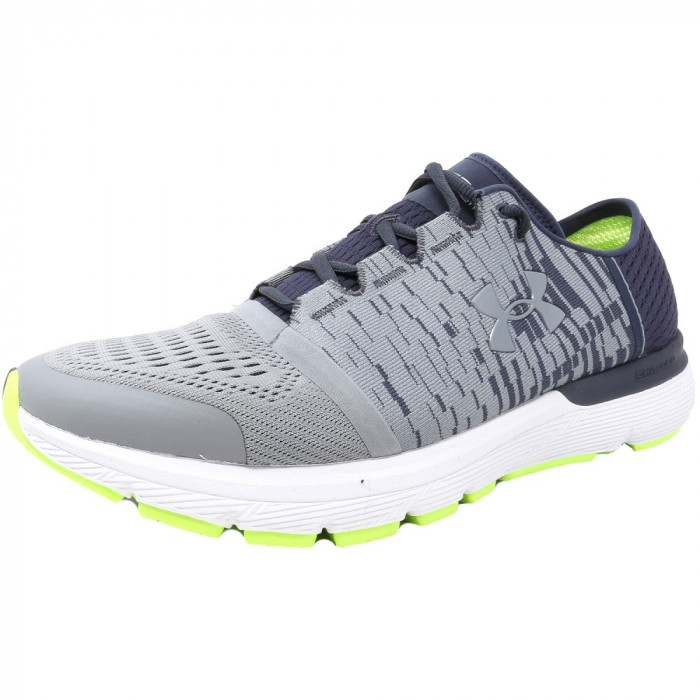 Under Armour barbati Speedform Gemini 3 Gr Steel / Apollo Grey Ankle-High Running Shoe foto mare