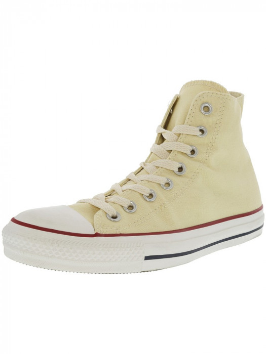 Converse All Star Hi Unbleached White Ankle-High Fashion Sneaker foto mare