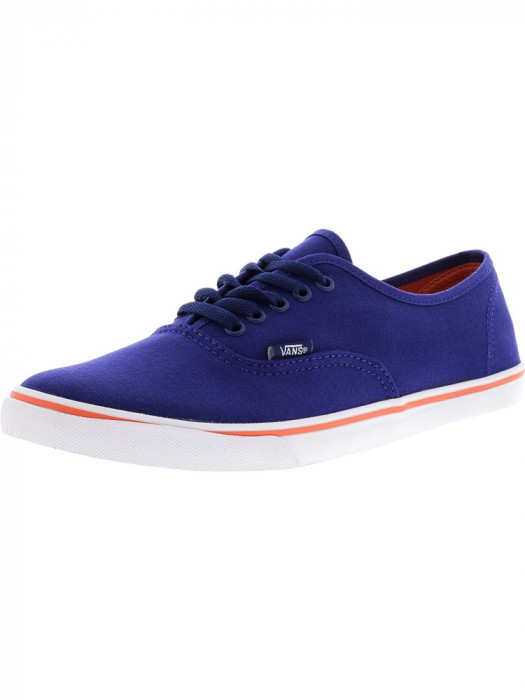 Vans Authentic Lo Pro Blueprint / Camellia Ankle-High Cotton Skateboarding Shoe foto mare