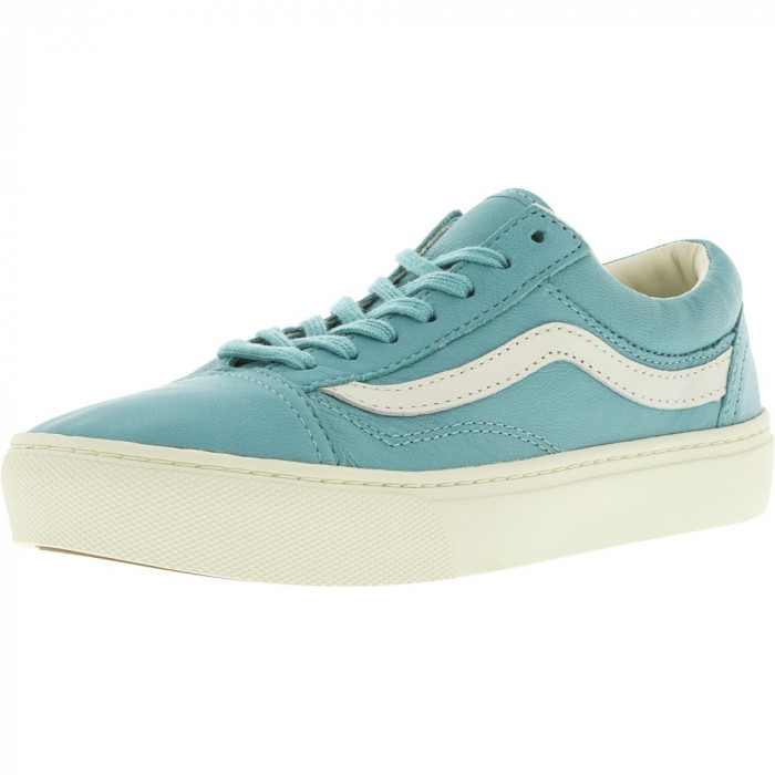 Vans Old Skool Cup Leather Aqua Sea Ankle-High Skateboarding Shoe foto mare