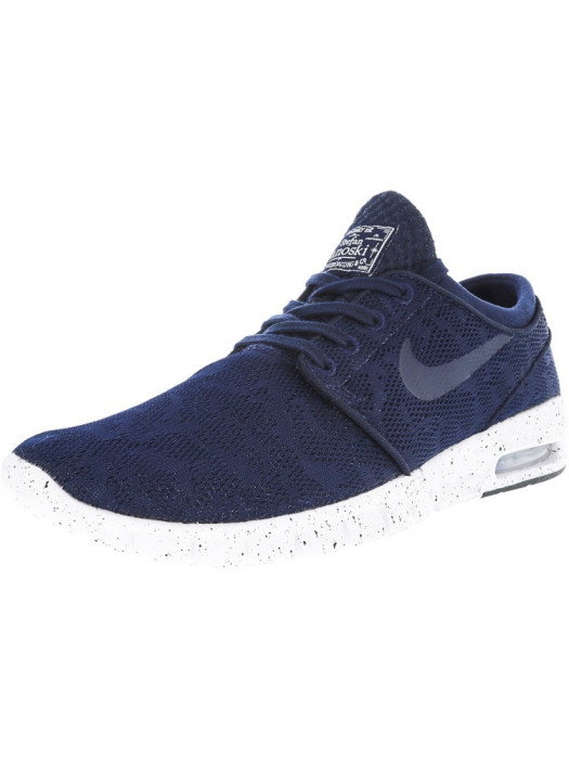Nike barbati Stefan Janoski Max Midnight Navy / White Ankle-High Running Shoe
