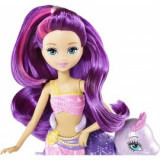 Barbie Papusa Mini-sirena cu testoasa - Mattel