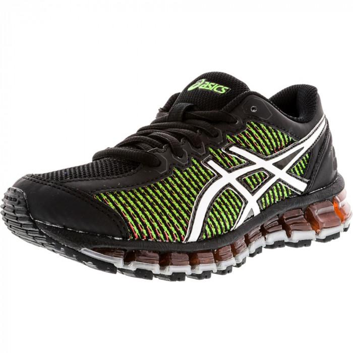 Asics Boys Gel-Quantum 360 Cm Black / White Green Gecko Low Top Tennis Shoe