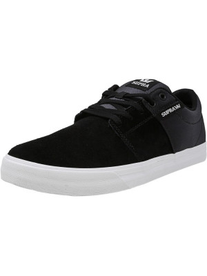 Supra barbati Stacks Vulc Ii Black / Fade-White Ankle-High Fashion Sneaker foto