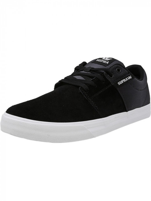 Supra barbati Stacks Vulc Ii Black / Fade-White Ankle-High Fashion Sneaker foto mare