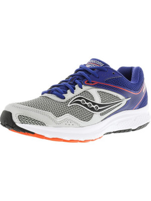 Saucony barbati Grid Cohesion 10 Silver / Blue Orange Ankle-High Running Shoe foto