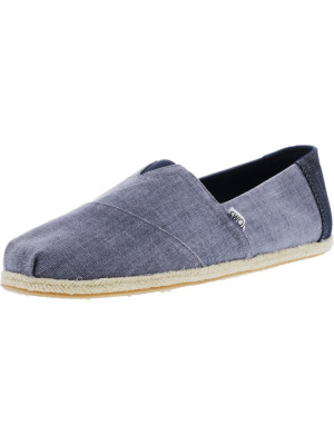 Toms barbati Classic Coated Linen Rope Deep Ocean Ankle-High Canvas Flat Shoe foto